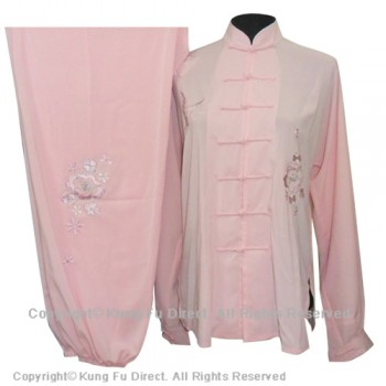 UC825 - Pink Uniform With Flower Embroidery