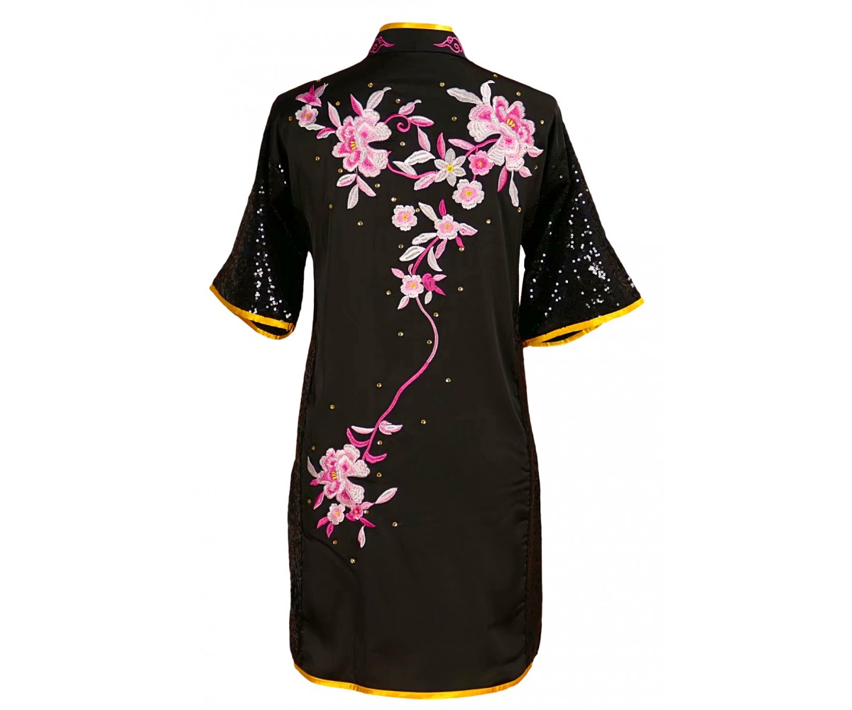 UC832 - Black Uniform with Flower Embroidery