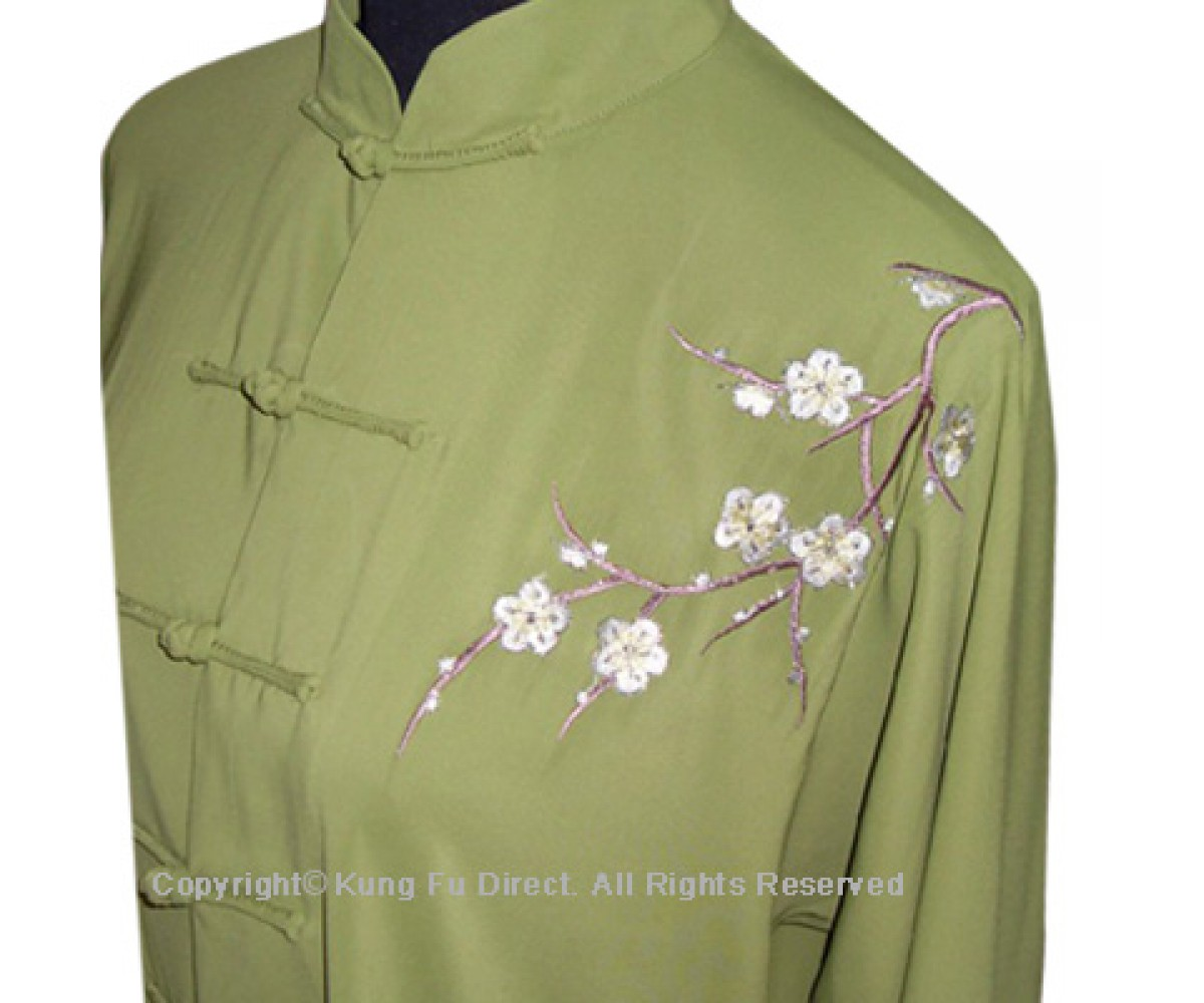 UC843 - Matcha Green Uniform with Filled Blossom Embroidery