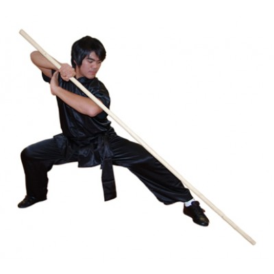 "WSL001 - 72"" Wushu Cudgel Wax Wood Staff - 武术白蜡杆"