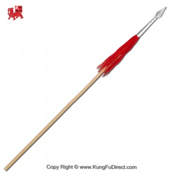 WSL002-3 - Wax Wood Kung Fu Spear with 10 in Spear Head 功夫枪