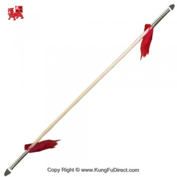 WSL004-1 Double Headed Wushu Spear with 7.5 in Spear Head小抢头双头抢