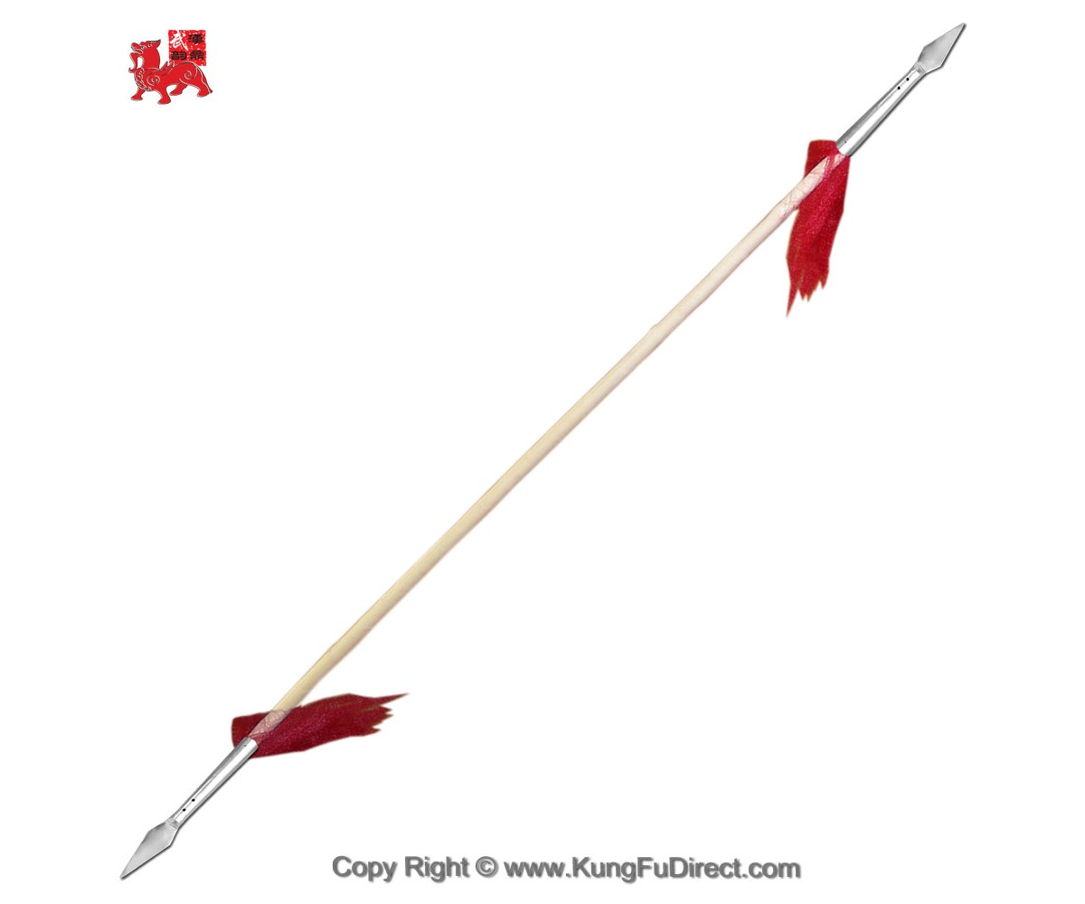 WSL004-2 - Double Headed Wushu Spear with 10 in Spear Head中抢头双头抢