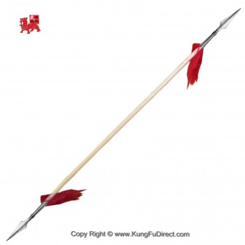 WSL004-3 - Double Headed Wushu Spear with Premium 10 in Spear Head