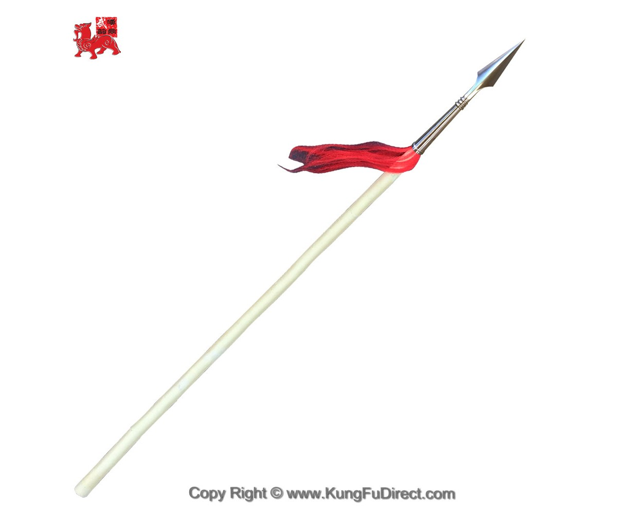 WSL002-4 - Wax Wood Kung Fu Spear with 10 in Premium Spear Head