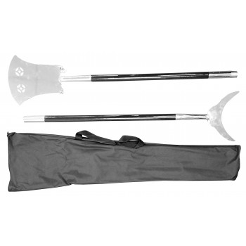 WSL011 - 2 piece Monk's Spade Single Blade Shovel - Stainless Steel