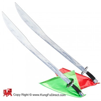 WSS011 - Wushu Twin Broadsword_ Soft blade