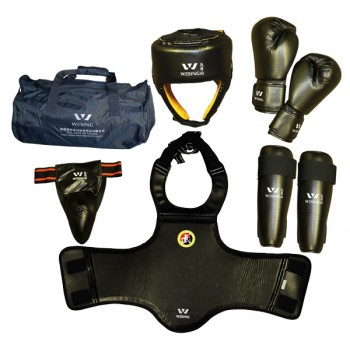 sd07-2 - Competition Sanda Martial Arts Gear Set Black