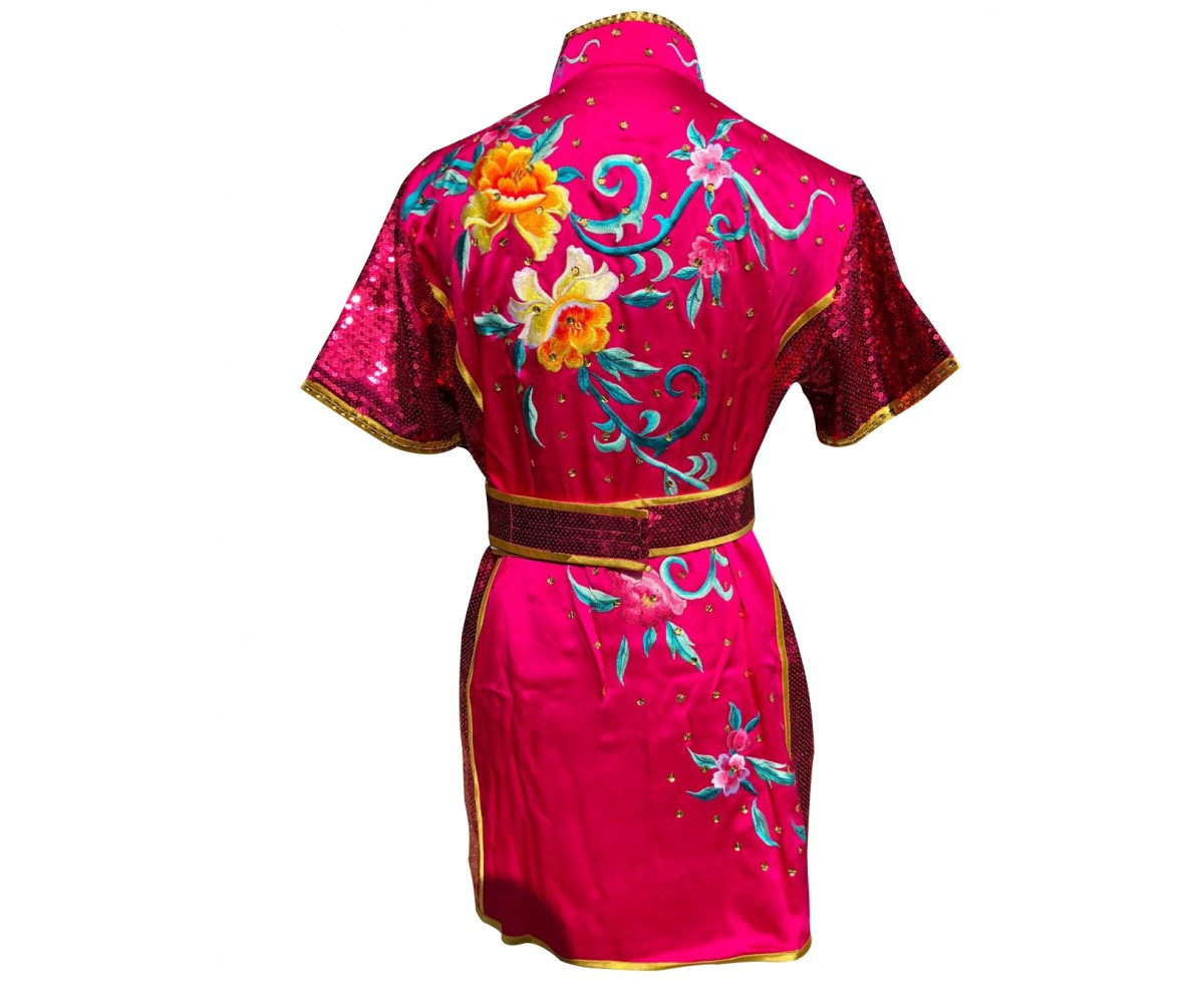 PSU017 - Pink Flower Embroidery Uniform