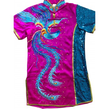 PSU033 - Magenta/Blue Phoenix Embroidery Uniform