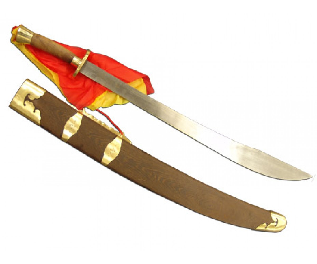 TDS002 - Traditional Broadsword with Pear Wood Scabbard