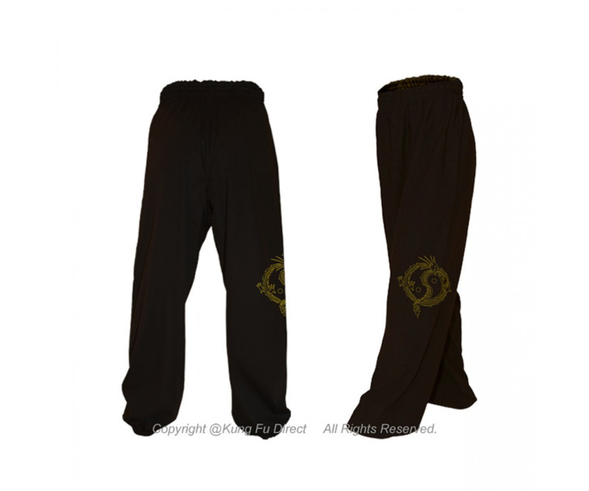 U0791-3 - Art Embrodiery Design - Blended Cotton Kung Fu Pants