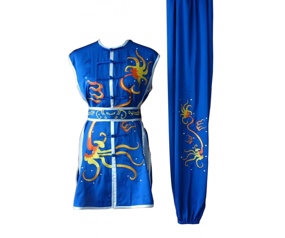 UC077 - Blue Uniform with Dragon Embroidery