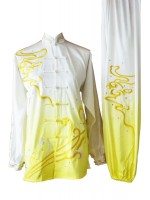 UC086 - White and Yellow Gradient Uniform with Art Embroidery