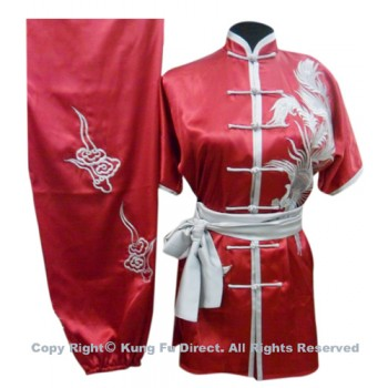 UC527 - Dark Red Uniform with Silver Phoenix Embroidery(2)