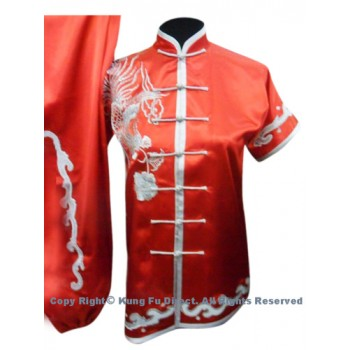 UC528 - Red Uniform with Silver Phoenix Embroidery(2)