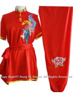 UC535 - Red Uniform with Color Phoenix Embroidery