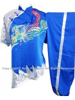 UC536 - Blue and Silver Uniform with Color Phoenix Embroidery