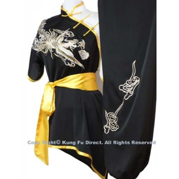 UC537 - Black White Uniform with White Phoenix Embroidery