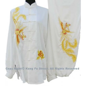 UC538 - White Uniform with Yellow and Red Phoenix Embroidery