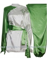 UC844 - White/Green Uniform with Green Bamboo Embroidery