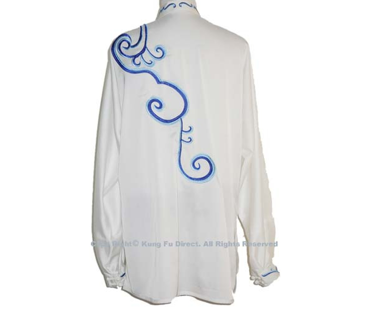UC059 - White Uniform with Blue Dragon Embroidery