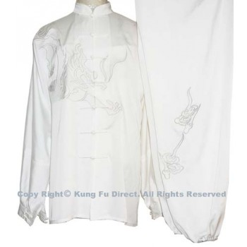 UC063 - White Uniform with White Dragon Embroidery