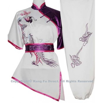 UC066 - White Uniform with Dragon Embroidery