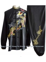 UC074 - Black Uniform with Dragon Embroidery