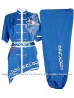 UC075 - Blue Uniform with Dragon Embroidery