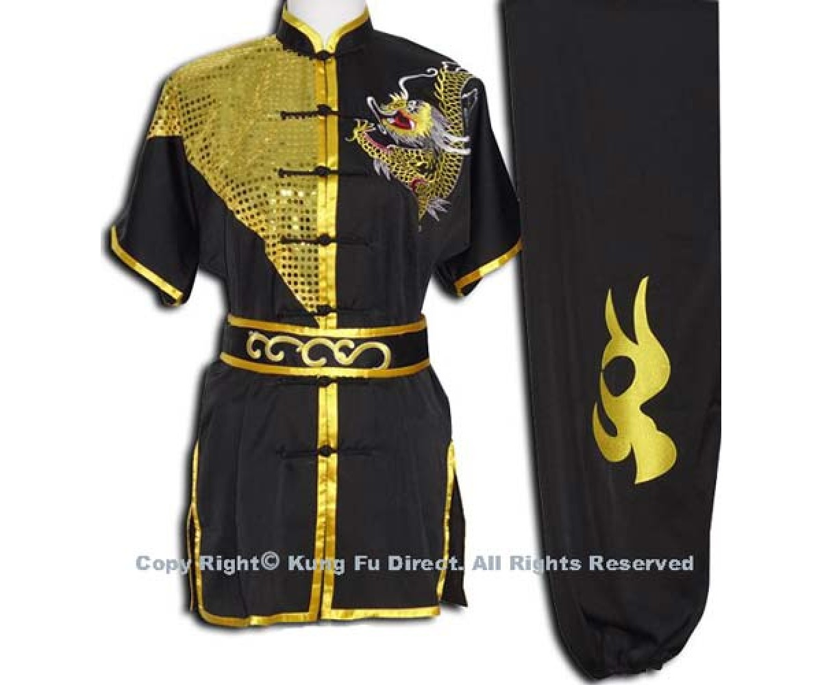 UC076 - Black Uniform with Dragon Embroidery